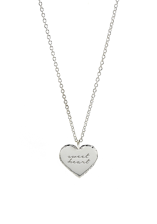 hammered heart necklace #1